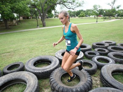 Tires Obstacle at the ASCO Spartacus Dash in Belton TX